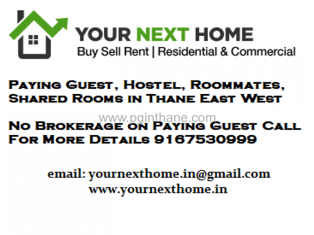 No Brokerage PG in Thane for Female 9167530999
